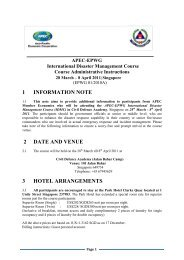 1 information note 2 date and venue 3 hotel arrangements