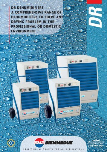 DR DEHUMIDIFIERS: A COMPREHENSIVE RANGE OF ...