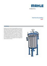 Mehrfachbeutelfilter MBF - MAHLE Industry - Filtration