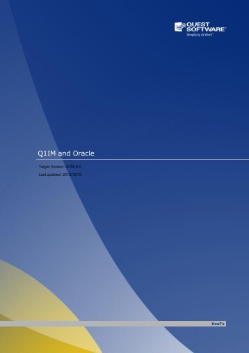 Q1IM and Oracle - Communities