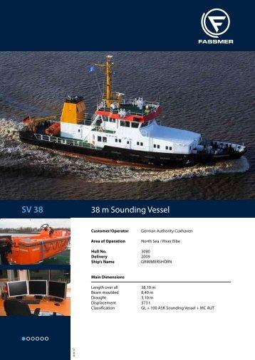 38 m Sounding Vessel - Fr. Fassmer GmbH & Co. KG