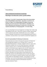"""Aktion """"EiszeitQuell für Grundschulen"""""""