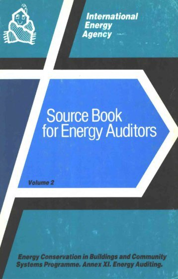 Source Book for Energy Auditors Volume 2 - Ecbcs