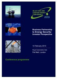 to Energy Security: Conference programme