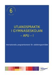 UTLANDSPRAKTIK I GYMNASIESKOLAN – APU – I - Internationella ...