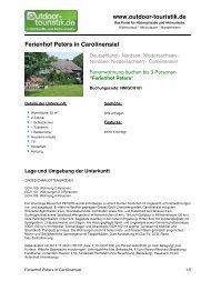 Ferienwohnung für 3 Personen in Carolinensiel - Outdoor-Touristik