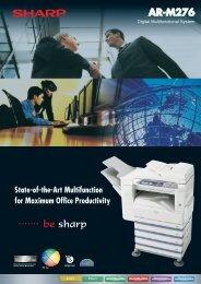 ARM276 Brochure - Sharp Corporation of New Zealand