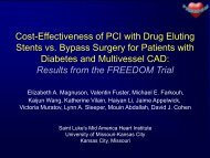 Cost-Effectiveness of PCI with Drug Eluting Stents versus Bypass ...