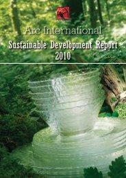 2010 Sustainable Development Report - Arc International