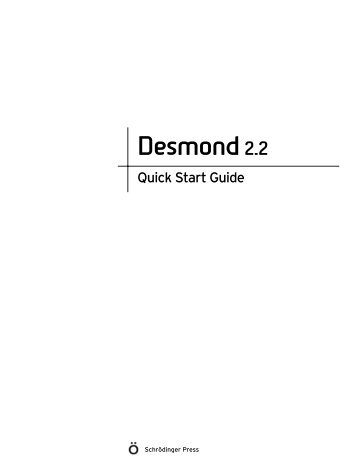 Desmond Quick Start Guide - ISP