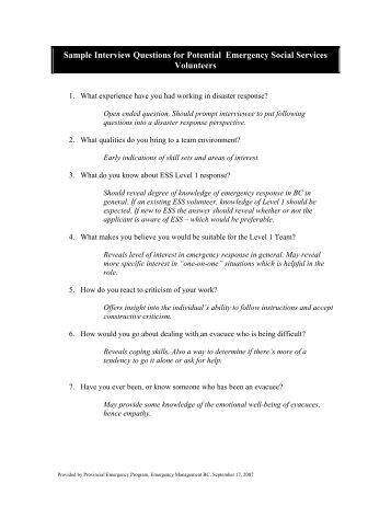 .situational interview questions excellent sample responses 1 10