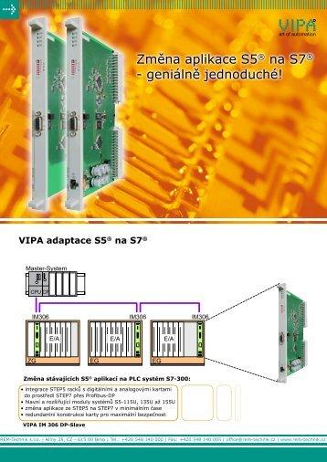 VIPA adaptace S5® na S7 - REM-Technik sro