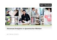 Advanced Analytics in dynamischen Märkten