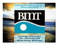 BMT Energy Assessing the Financial Viability of Offshore