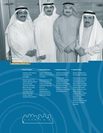 BOARD OF DIRECTORS - Ahli United Bank