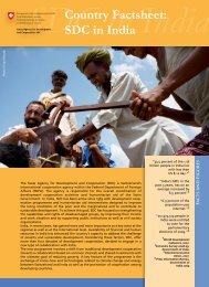 Country Factsheet: SDC in India