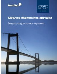 Žengiant i naująjį ekonomikos augimo ciklą - Nordea Bank Lietuva