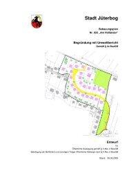 Begründung mit Umweltbericht - Stadt Jüterbog