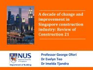 Developing the Construction Industry in Singapore - misbe 2011