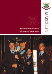 Download Enrolment Booklet - Marcellin College