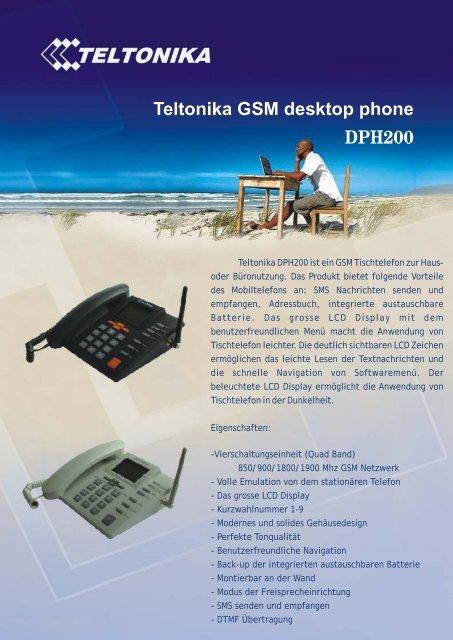 Teltonika GSM desktop phone DPH200