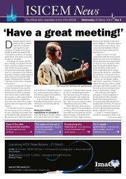 'Have a great meeting!' - International Symposium on Intensive Care ...