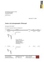 WSP CBP Baumanagement GmbHAngebot Änderung2 - Peter Lech