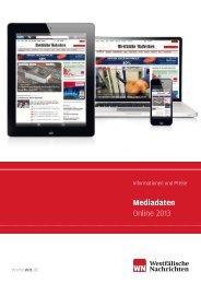 Mediadaten Online 2013 - Westfälische Nachrichten
