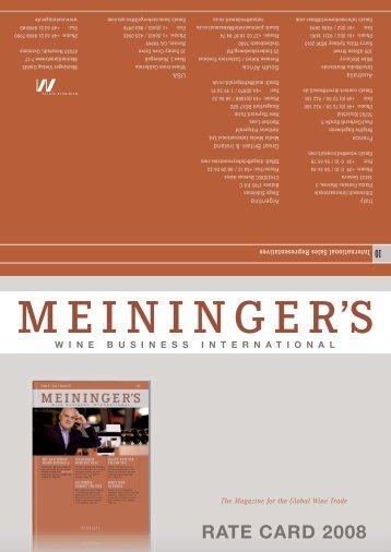 RATE CARD 2008 - Wine Business International