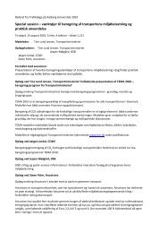 Referat fra Trafikdage p Aalborg Universitet 2010 - Trafikdage.dk