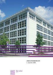 Zwischenbericht 1. Quartal 2008 - Fair Value REIT-AG
