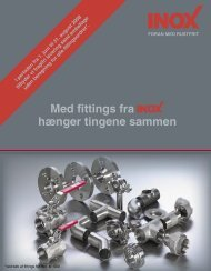 Se kampagnefolderen over fittings - Inox A/S