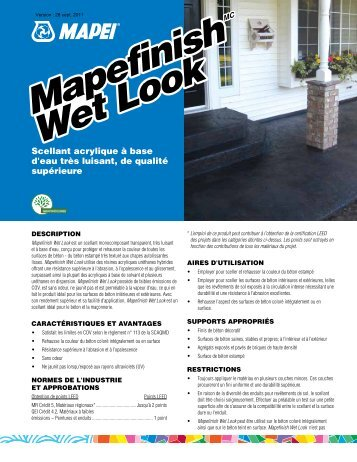 Mapefinish Wet Look Mapefinish Wet Look - Mapei