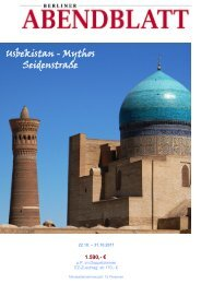 Usbekistan - Mythos Seidenstraße - Leserreisen