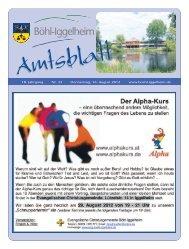 Amtsblatt vom 16.08.2012 (KW 33) - Gemeinde Böhl-Iggelheim