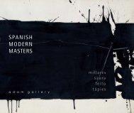 'Spanish Modern Masters' - pdf catalogue - Adam Gallery