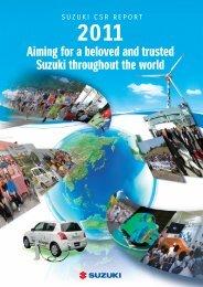 2011 Suzuki CSR Report - global suzuki