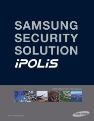 Samsung Techwin iPolis Camera Range - Use-IP