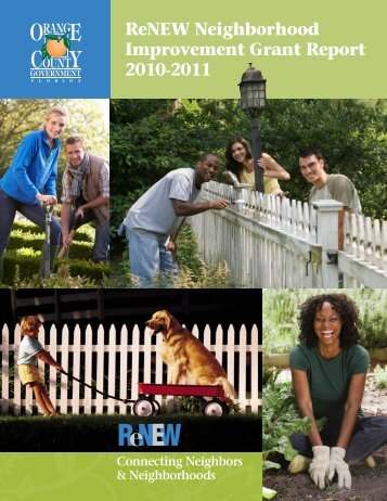 ReNEW Neighborhood Improvement Grant Report 2010-2011