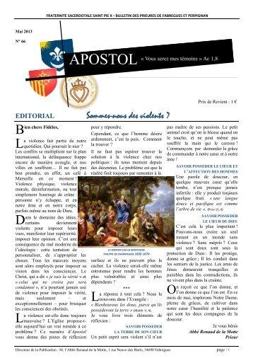 APOSTOL n°66 - La Porte Latine