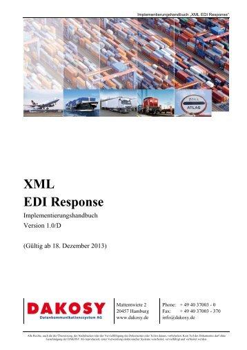 EDI-Response-XML - DAKOSY Datenkommunikationssystem AG