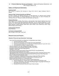 Optics and Quantum Electronics - Research Laboratory of ...