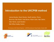 Introduction to the UKCP09 method - Royal Meteorological Society