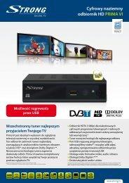 Cyfrowy naziemny odbiornik HD PRIMA VI - STRONG Digital TV