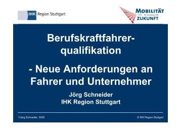 Berufskraftfahrer- qualifikation - Neue Anforderungen an Fahrer ...