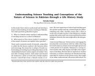 Understanding Science Teaching and Conceptions of the Nature of ...