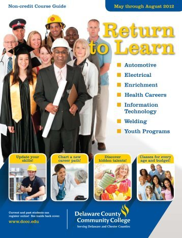 Return to Learn - Delaware County Community College