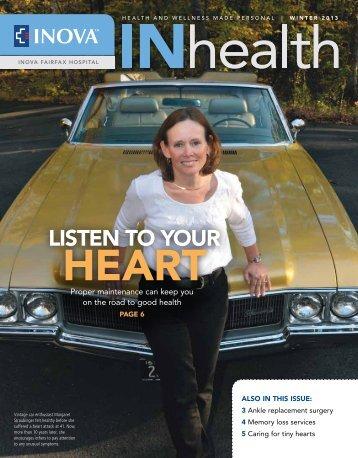 LISTEN TO yOUR - Inova Health System