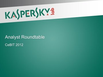 Analyst Roundtable - Kaspersky Lab – Newsroom Europe.