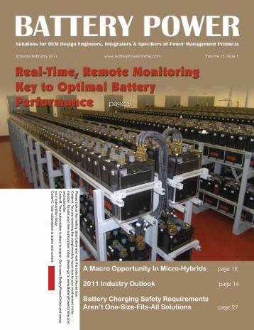 A Macro Opportunity In Micro-Hybrids 2011 Industry Outlook Battery ...